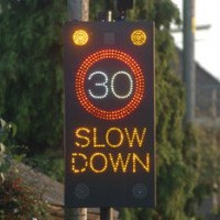Mobile Traffic Signal speed-sign